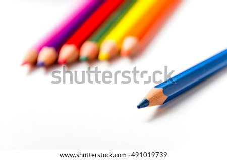 Great close up photo of color pencil with great colors and detail