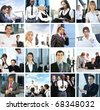 Great collage made of many business pictures - stock