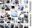 Great collage made of many different images about business style of life - stock
