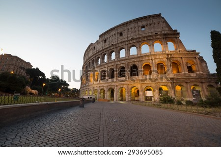 Great Colosseum, Rome, Italy - stock photo