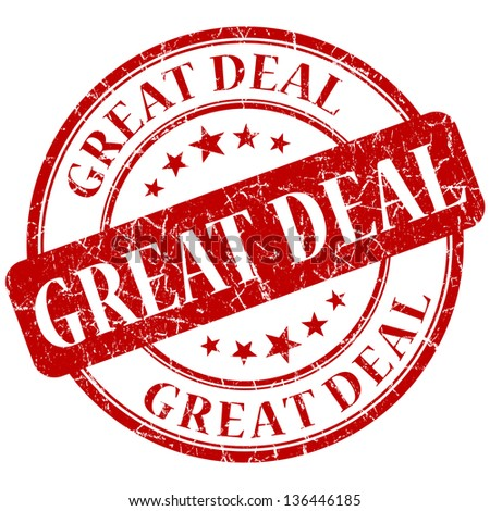 great deal stamp - stock photo
