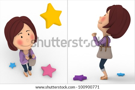 Great expectations - stock photo