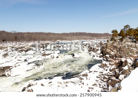 Great Falls - Maryland & Virginia - Winter - stock photo