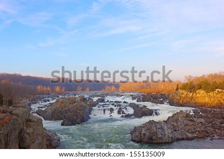 Great Falls National Park in Virginia and Maryland, USA - stock photo