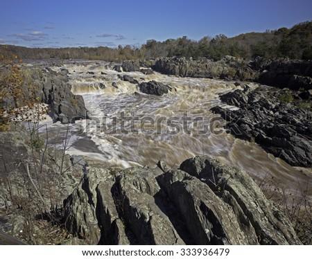 Great Falls National Park, Virginia - stock photo