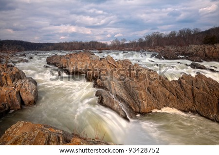 Great Falls Park, Virginia, USA (HDR composite)