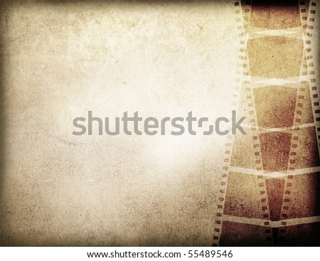 Great film strip for textures and backgrounds frame -with space for your text and image - stock photo