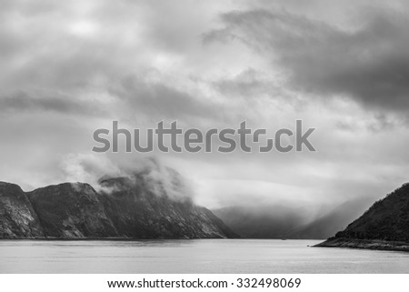 Great Fjords. Norwey,island Senja - stock photo