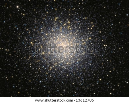 Great Globular Cluster in Hercules - stock photo
