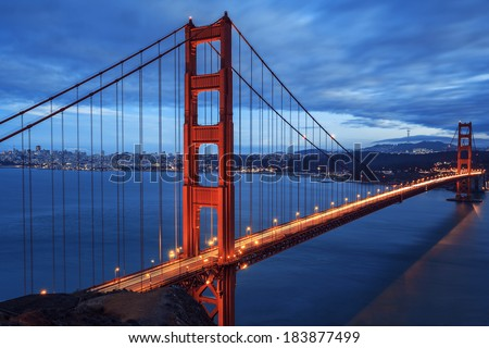 Great Golden Gate Bridge, San Francisco, California, USA  - stock photo