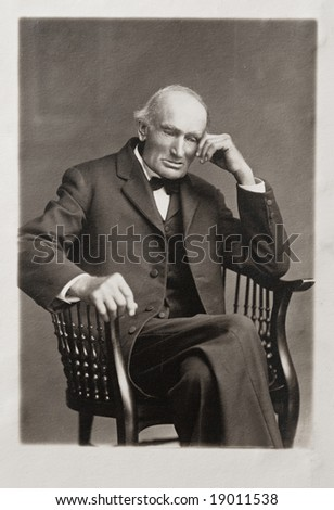 Great Grandfather Antique Photograph - stock photo