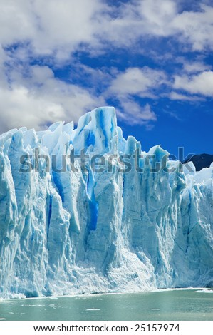 Great ice walls of the Moreno glacier, patagonia Argentina. - stock photo