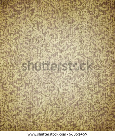 great image of old dirty and grungy wallpaper - stock photo