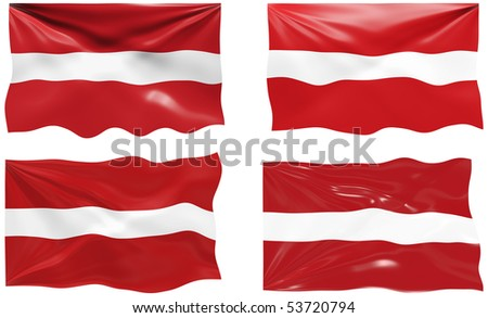 Great Image of the Flag of latvia