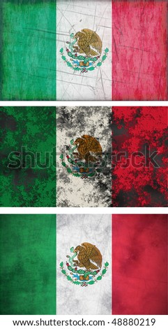 Great Image of the Flag of mexico - stock photo