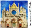 great italian landmarks artistic series -Siena cathedral - stock photo