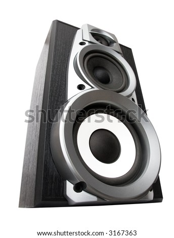 Great loud speakers. Isolated on white. - stock photo