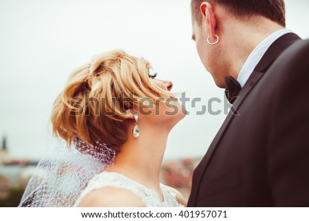 great married couple enjoying time - stock photo