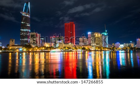 Great Metropolis night shot. - stock photo