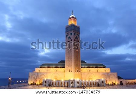 Great Mosque Hassan II in Casablanca, Morocc, North Africa - stock photo
