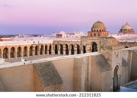 Great Mosque of Kairouan, Tunisia, africa - stock photo