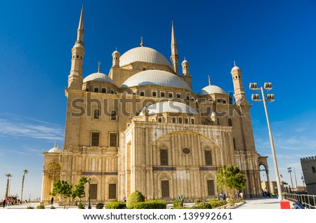 Great Mosque of Muhammad Ali at the citadel of Cairo, Egypt
