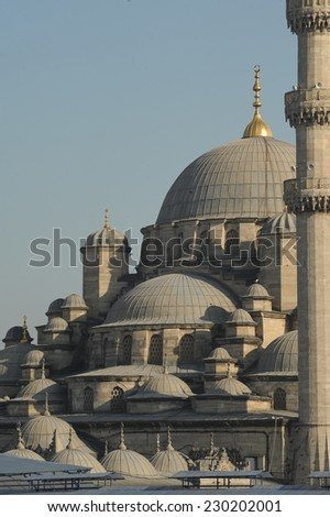 Great Mosque on the Istanbul Skyline - stock photo