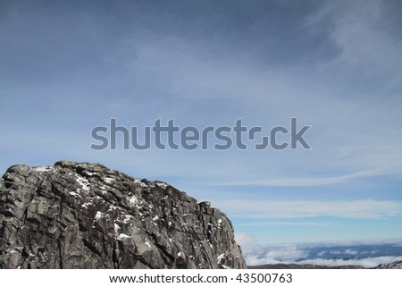 Great moutain rock pike - stock photo