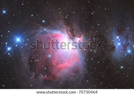 Great Nebula in Orion, M42 - stock photo