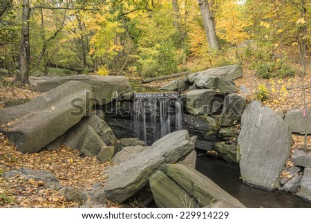 Great North woods New York City Manhattan in Autumn - stock photo