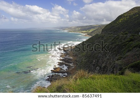 Great ocean road in Victoria Australia