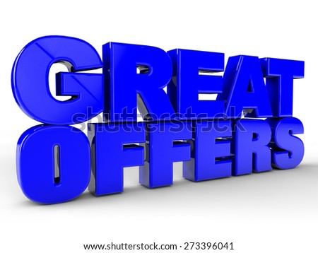 Great Offers over white Background - stock photo