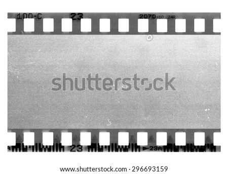 Great old film strip for textures and backgrounds frame - stock photo