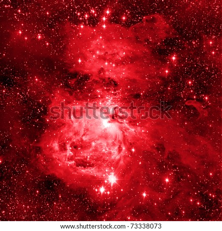 Great Orion Nebulae - stock photo