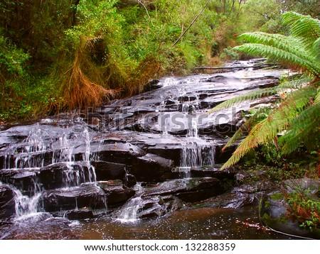 Great Otway National Park Waterfall - stock photo