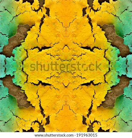 Great pattern of cracked wall color in a nice background texture - stock photo