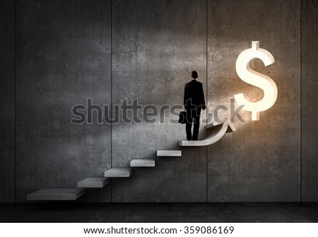 Great plan for financial growth - stock photo
