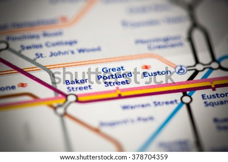 Great Portland Street Station. Hammersmith & City Line. London.  - stock photo