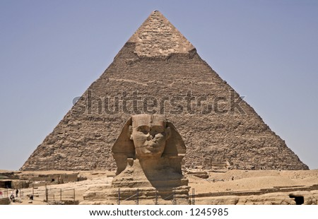 Great pyramid and Sphinx at Giza, Cairo