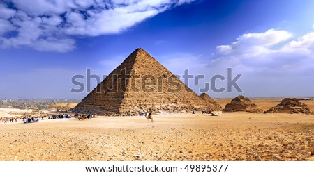 Great Pyramid of Giza, called the pyramid of Pharaoh Khufu. Egypt. - stock photo