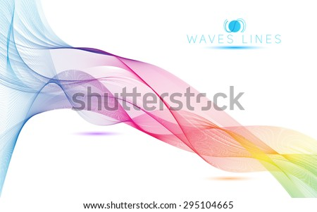 great rainbow waves colorful gradient light blend line abstract