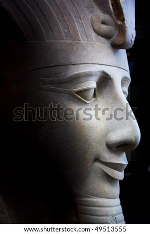 great ramses profile - stock photo