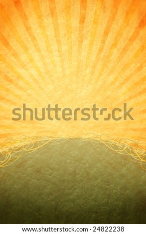 Great retro-styled background with warm colors and burst effect - stock photo