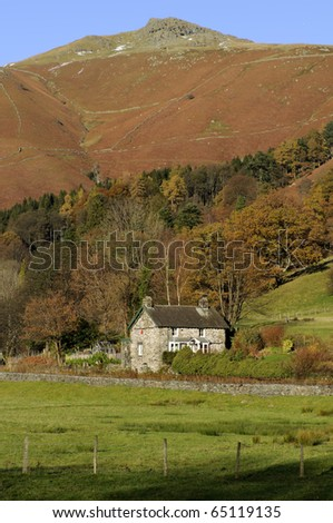 Great Rigg from Grasmere Lake District National Park Cumbria England - stock photo
