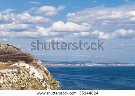 Great Russian River Volga - stock photo