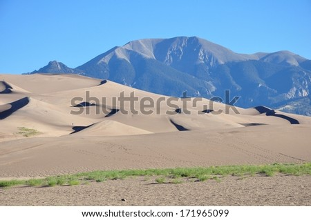 Great Sand Dunes, Colorado 10 - stock photo