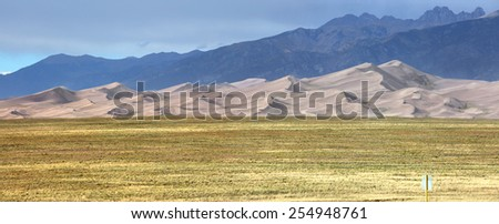 Great Sand dunes national monument in Colorado - stock photo