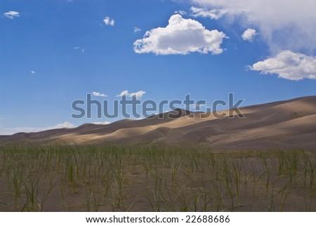 great sand dunes national park - stock photo