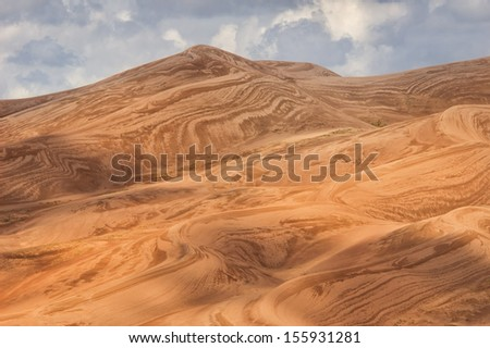 Great Sand Dunes National Park, Colorado showing texture after a rain. - stock photo