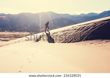 Great Sand Dunes National Park, Colorado,USA - stock photo